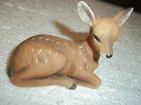 HIBEL PORCELAIN DEER FROM NARA AND FAWN STRING OF PEARLS SERIES ASIAN GIRL &FAWN