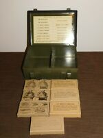 VINTAGE TELEPHONE  BELL SYSTEM C METAL BOX FIRST AID KIT *MISSING SOME ITEMS*