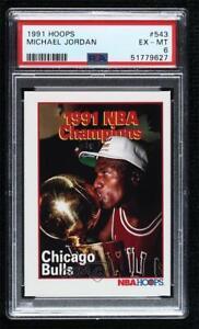 1991-92 NBA Hoops Michael Jordan #543 PSA 6 HOF