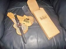 THE BEATLES APPLE TIMEPIECE WATCH WITH WOODEN GUITAR CASE AND CARDBOARD BOX FAB