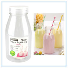 300ML PLASTIC MILK BOTTLE CANDY JAR CONTAINER WITH LID PARTY LOLLY BUFFET JUICE