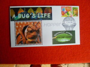 """2004 A BUG'S LIFE MOVE 'HOPPER""""  P-STAMP FIRST DAY COVER"""