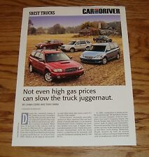 2005 Subaru Forester 2.5XT Car & Driver Sales Sheet Brochure 05