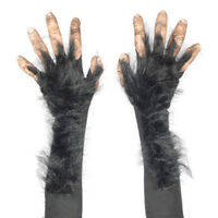 Chimp Gloves MADE IN USA Long Monkey Hairy Hands Gorilla Paws Nails Hair Costume