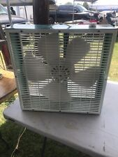 VINTAGE Superlectric Turquoise BOX FAN QUIET 3 SPEED  Vintage Fan