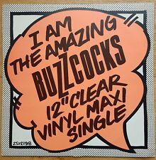 "I Am The Amazing Buzzcocks 12"" Clear Vinyl Maxi Single 1978 Rare"