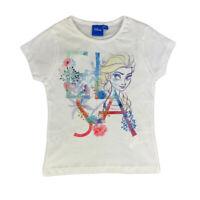 Disney Frozen T-Shirt Imprimée Officiel Jersey Fille De 4 A 8 Âge 0897