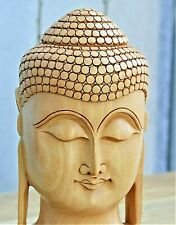 Hand Crafted Wooden Buddha - 8""