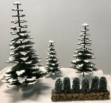 """DEPT 56–DICKENS VILLAGE–""""WINTER EVERGREENTREES"""" (SET OF 3)– """"BUSHES"""" - ACCESSORY"""