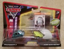 Disney Pixar Cars 2 • Professor Z & Acer with Helmet • 2012 Tokyo Cardback