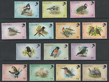 Lesotho 4323 - 1988  BIRDS set of 14 values  unmounted mint