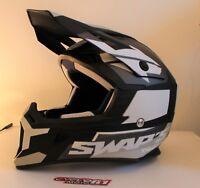 Casque motocross SWAP'S BLUR S818 Noir / Blanc Mat