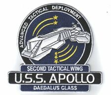 "Stargate SG-1 Atlantis U.S.S. Apollo Ship Logo 4 1/2"" Tall Embroidered Patch"