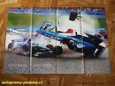 TRULLI (Prost) / WURZ (Benetton) 1998 GP Canada - poster cca 8xA4 Format