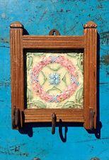 Antiguo Vintage Indio Azulejo Decorativo Panel De Gancho De Tres