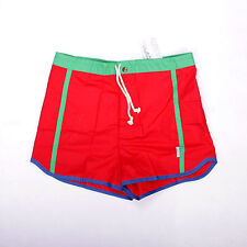 BNWT AQUARIUM Sport Swimsuit Shorts Red Casuals 80s Vintage W32 Made in Italy