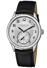 Stuhrling Prestige Levant Men's Swiss Made Automatic Dress Watch Silver Dial NEW