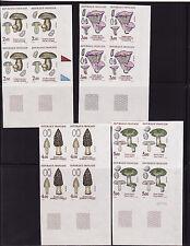 timbre France non dentelée  série 4 champignons 1987  num: 2488/2491  cdfd  x 4