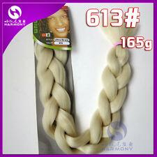 Blonde #613 Kanekalon Jumbo Braiding Synthetic Hair Extension Twist Braids 165g