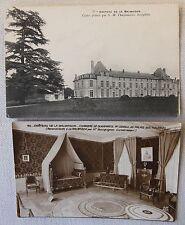 2x Vintage Postcard Chateau de la Malmaison France Carte Postale Napoleon