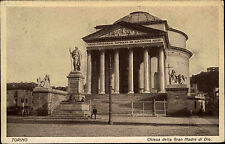 Torino Turin s/w AK ~1920/30 Chiesa della Gran Madre di Dio Partie an der Kirche
