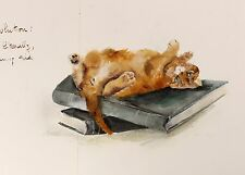 2002 | DEDE MOSER | wonderful ALBUM of original CAT oil drawings | ARCHES paper