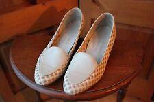 Salamander Lady-Line Woven Tan Leather Loafer Slip On Heel Shoes 10