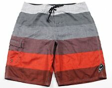 """NEW O'Neill Stable Multicolor Stripe 22"""" Boardshorts MENS 36 Gray Red Surf Beach"""