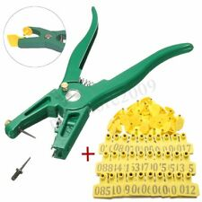 100 Number Farm Livestock Cattle Pig Sheep Ear Tag ID Lable Applicator Plier Set