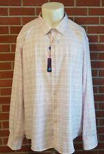 Egara Non-Iron Slim Fit Long Sleeve Button Front Mens Shirt Size 5XLT Tall NWT