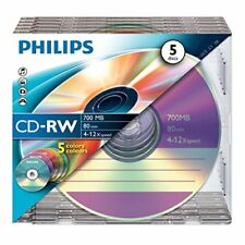 Cd-rw 12X 700mb Philips regrabable caja Slim pack 5 UDS