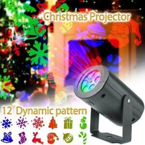 LED Christmas Projector Light Laser Landscape Xmas Move Fairy Lamp Home Decor US