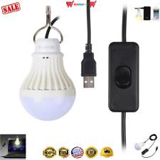 Onite® USB LED Light for Camping Children Bed Lamp USB Portable LED Bulb Cord US