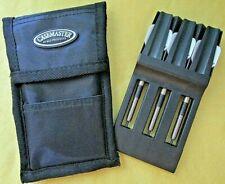 Lot/3 UFO Gold Series Steel Tip Darts/Shafts/Flights/ETC & GLD Casemaster Case