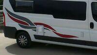 (No.772) Camper Van, motorhome graphics Horsebox Caravan RV Decals Vinyl Sticker