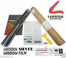"""Transparent 70%VLT VERY LOW Silver Window Tint Film 20""""x10 ft Roll UV Protection"""