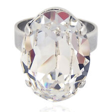 Ring mit Kristall von Swarovski® Silber Variabel verstellbar NOBEL SCHMUCK