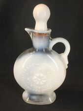 Vintage Opaline White Glass Bottle Jim Beam (ref G864)