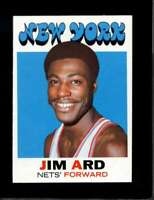 1971-72 TOPPS #191 JIM ARD VGEX NY NETS NICELY CENTERED  *XR9509