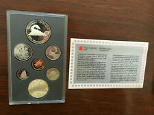1986 Royal Canadian Mint Proof Set-7 Coins Double Dollar