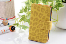 New  Leopard Print PU Leather Flip Wallet Stand Case Cover For iPhone 4 4S