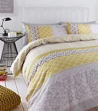 réunis Oiseau Floral jaune Mélange de coton King Size couverture & anneau
