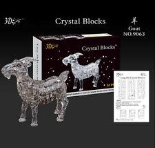 Gray Goat 3D Crystal Blocks DIY Puzzle Jigsaw 51pcs Intelligence Fancy Toy Gift