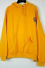 Men's Yellow Athletic Works Sweatshirt Hoodie Pullover Size XL