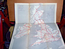 Britain Map showing the motor roads, railroads, airlines, Eire, Scotland the Nor