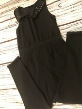 Ex Chain-store Girls Summer Black Playsuit All-In-One 6 8 10 12