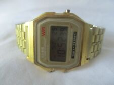 Casio Digital Watch Gold Toned Alarm Chronograph Water Resist Elegant WORKING!