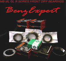 MERCEDES DELUXE ML R GL FRONT DIFFERENTIAL REBUILD KIT AXLE SHAFT BEARING SEALS