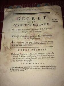COMMERCE MARITIME & DOUANES DE LA RÉPUBLIQUE . 1794.