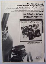 The Beach Boys 1965 vintage Poster Advert Barbara Ann party